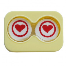 """Linsetui """"Minicase"""" YELLOW RED HEART"""